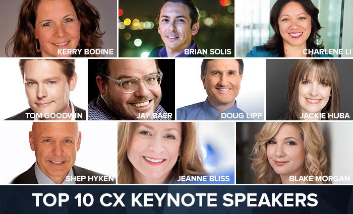 The Top 10 Customer Experience Keynote Speakers | Blake