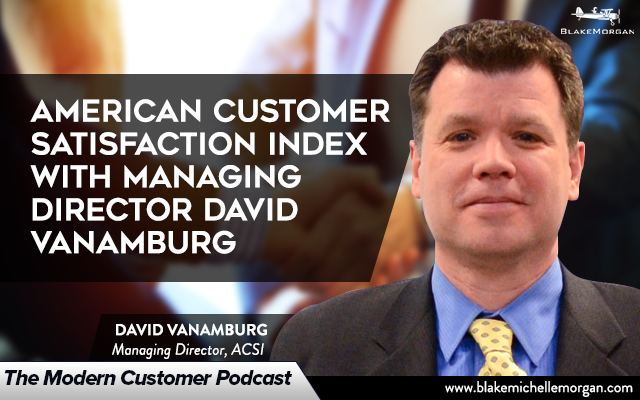 ACSI Data Customer Satisfaction David VanAmburg