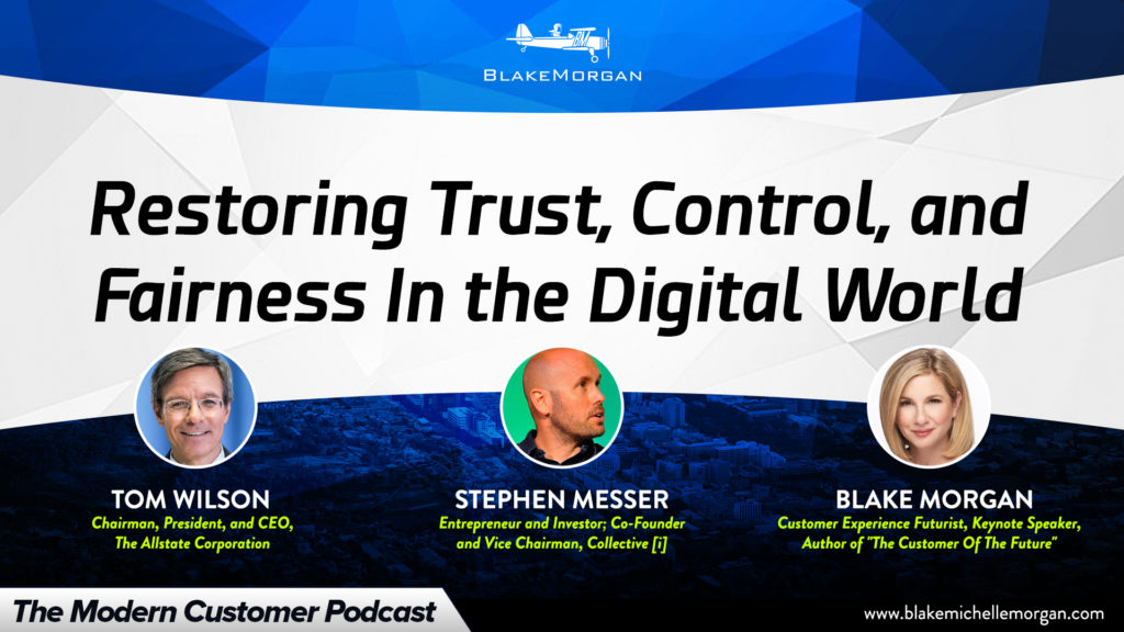 Restoring Trust, Control, And Fairness In The Digital World